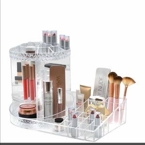 Nordstrom NWOT Rotating Makeup Organizer clear